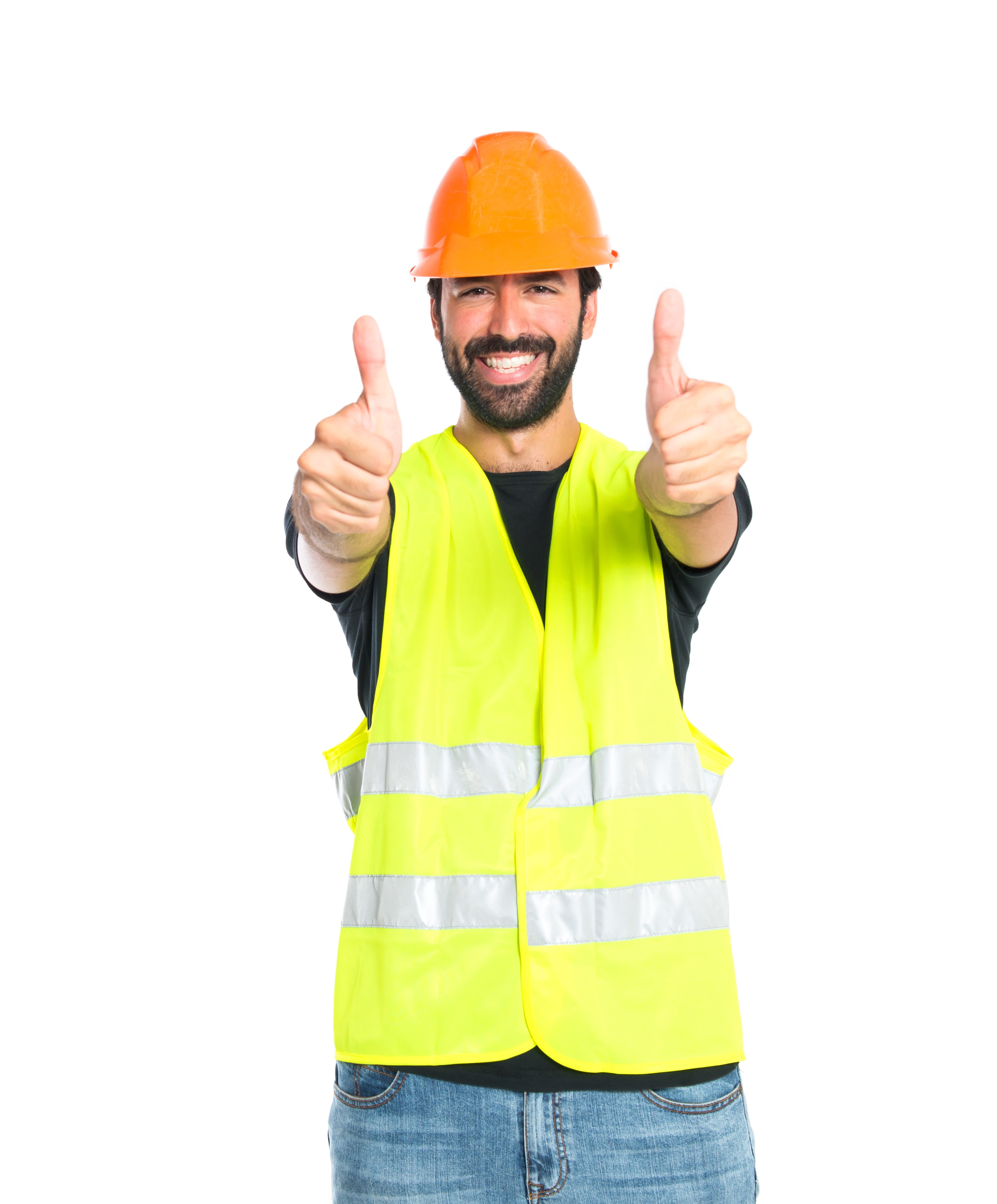 workman-with-thumb-up-over-white-background